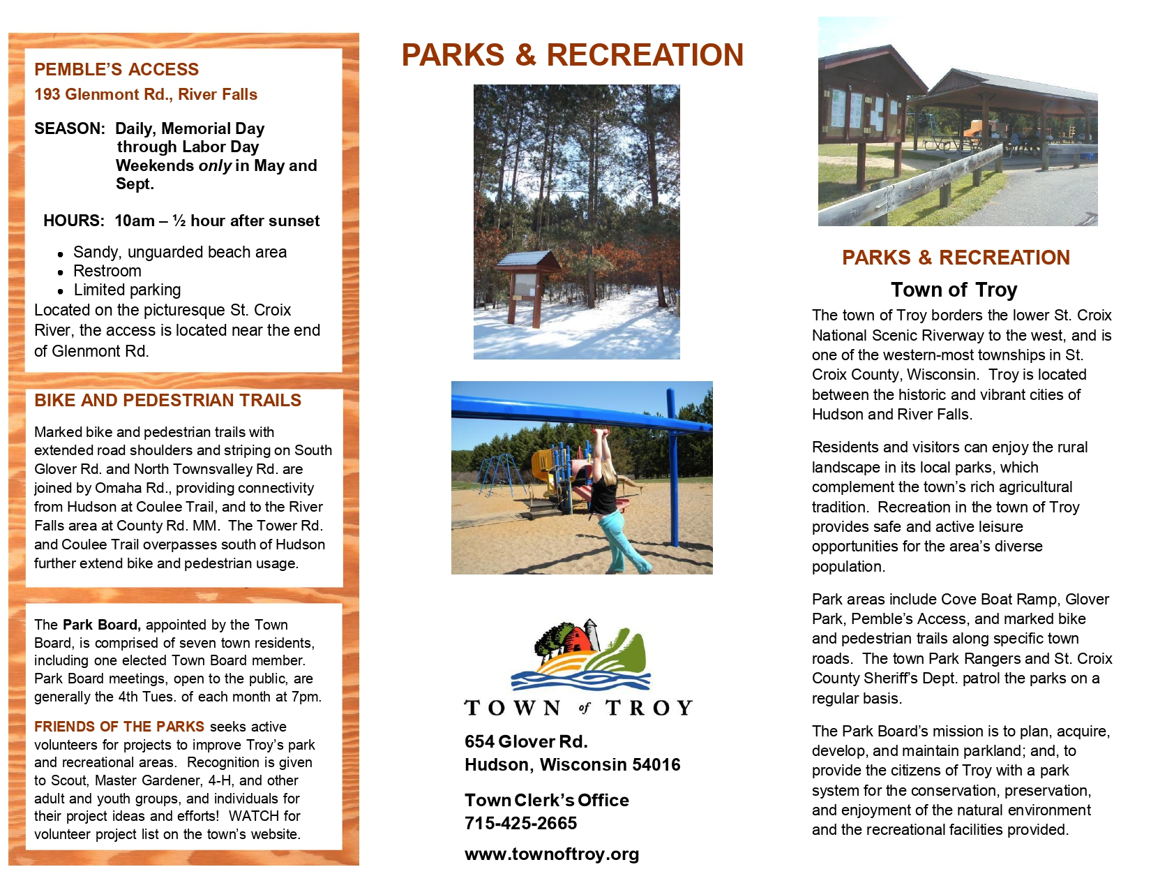 Park Brochure – Town of Troy